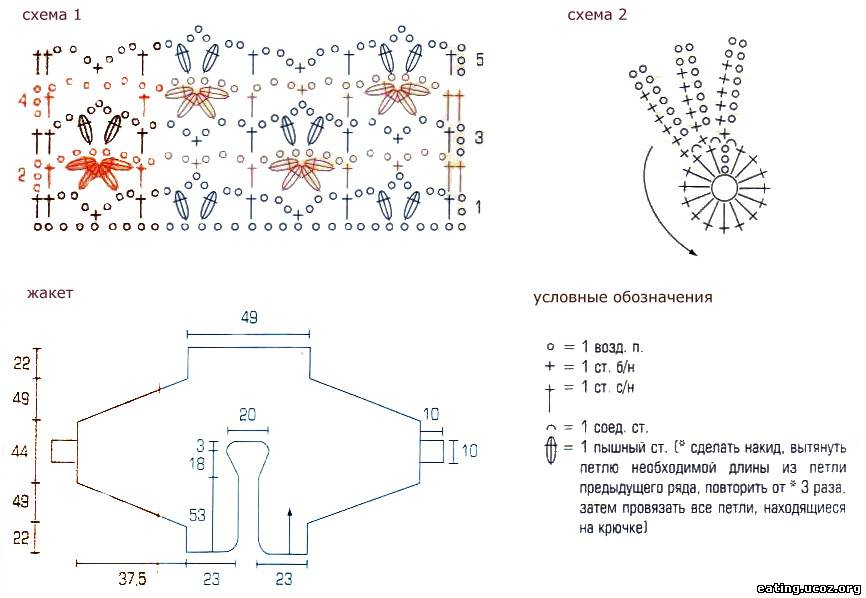 Схемы вязанных кофт летучая мышь