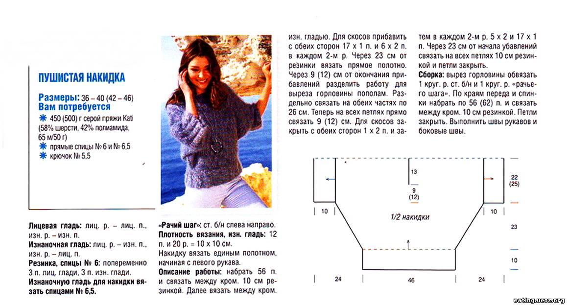Схема Вязания Блузок